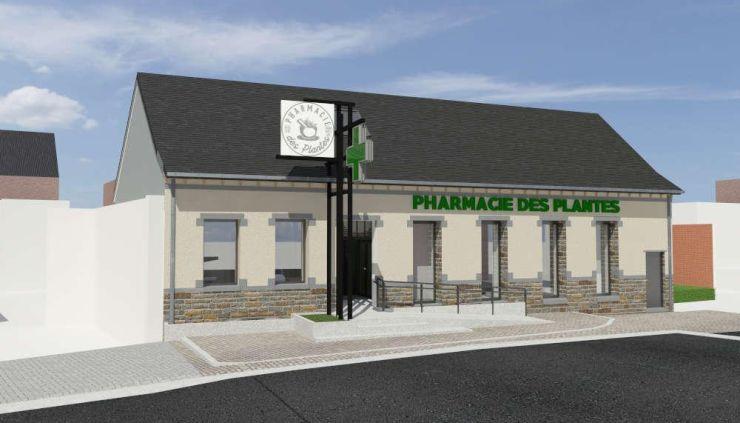 Renovation patio pharmacie industriel contemporain