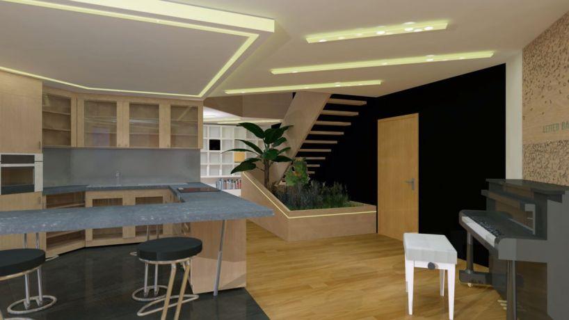 Maison bois architecture interieure escalier lumiere