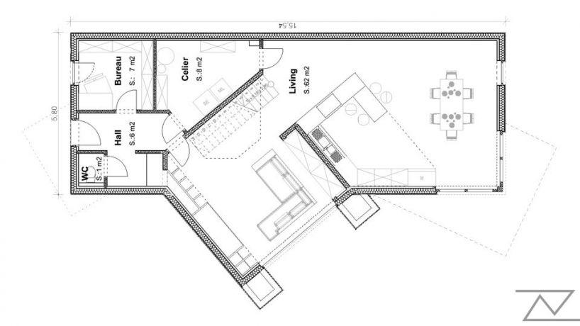 Plan etage villa Maubeuge