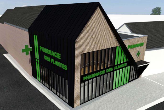 Architecte izzo bois zinc noir deconstructivisme ecologique